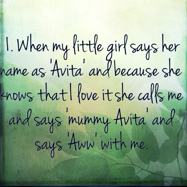 When Avika says it as 'Avita'