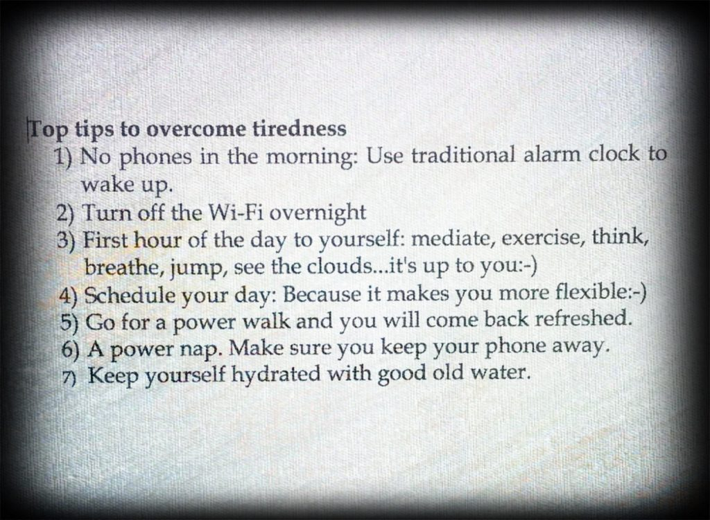 Top tips to overcome tiredness