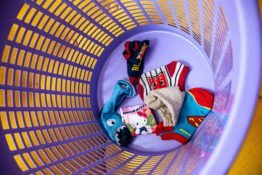socks in a basket
