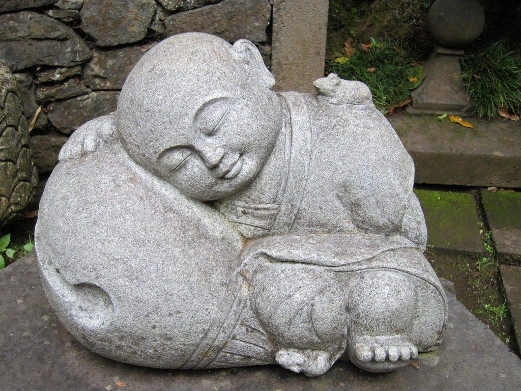 sleeping buddha breathing
